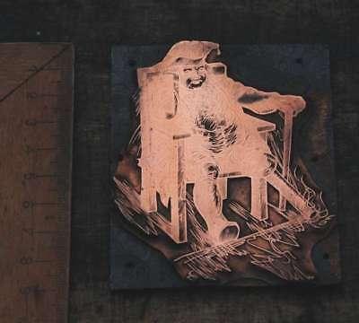 Aktiv Pirat M. Holzbein Galvano Druckplatte Klischee Eichenberg Printing Plate Copper