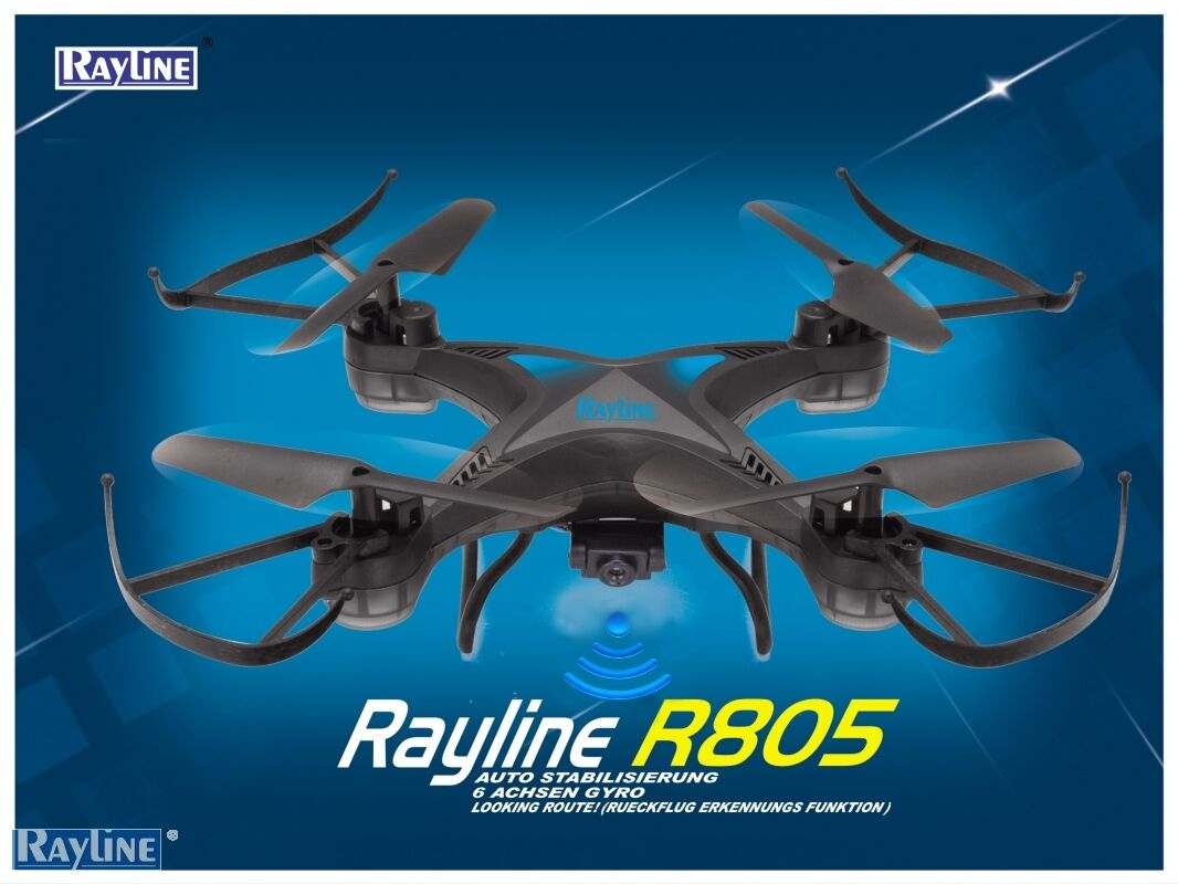 Rayline R 805 WIFI 2.4 GHz 4 canali Drone, Quadrocopter RC