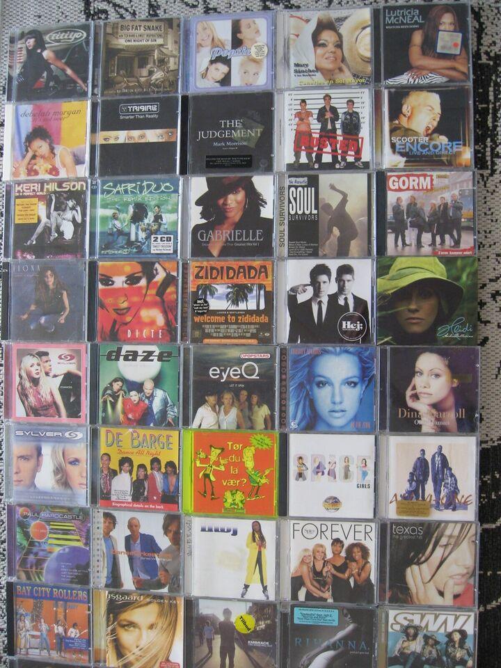 CD Diverse: 240 stk, pop