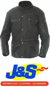 Frank-Thomas-Glasgow-textile-moto-Veste-moto-impermeable-noir-J-amp-S