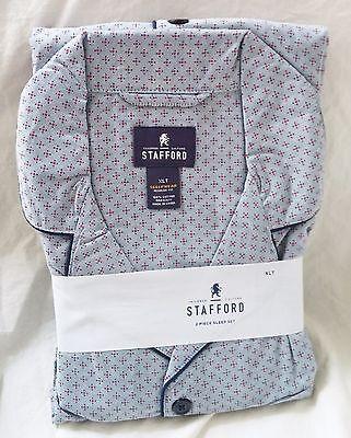 STAFFORD Pajamas - 2 Piece Sleep Set - Gray Red Dot ($95 Retail)  - XLT