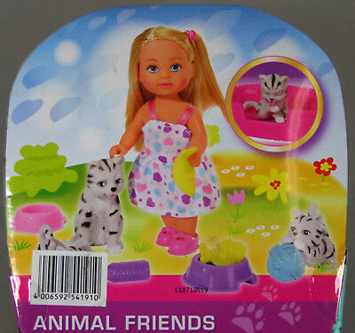 Hunden Tiere Figuren 3x Simba Evi Animal Friends Puppe mit Katzen