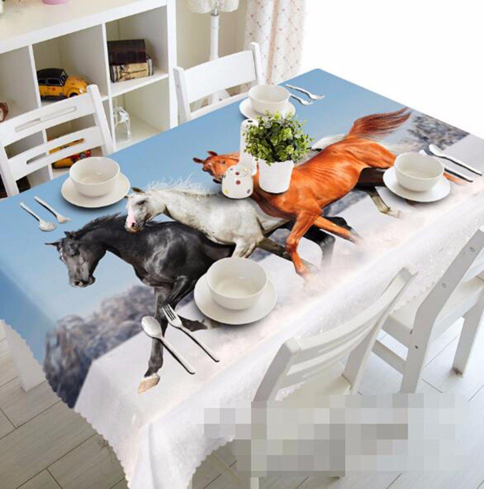 3D Cheval 67 Nappe Table Cover Cloth fête d'anniversaire AJ papier peint Royaume-Uni Citron