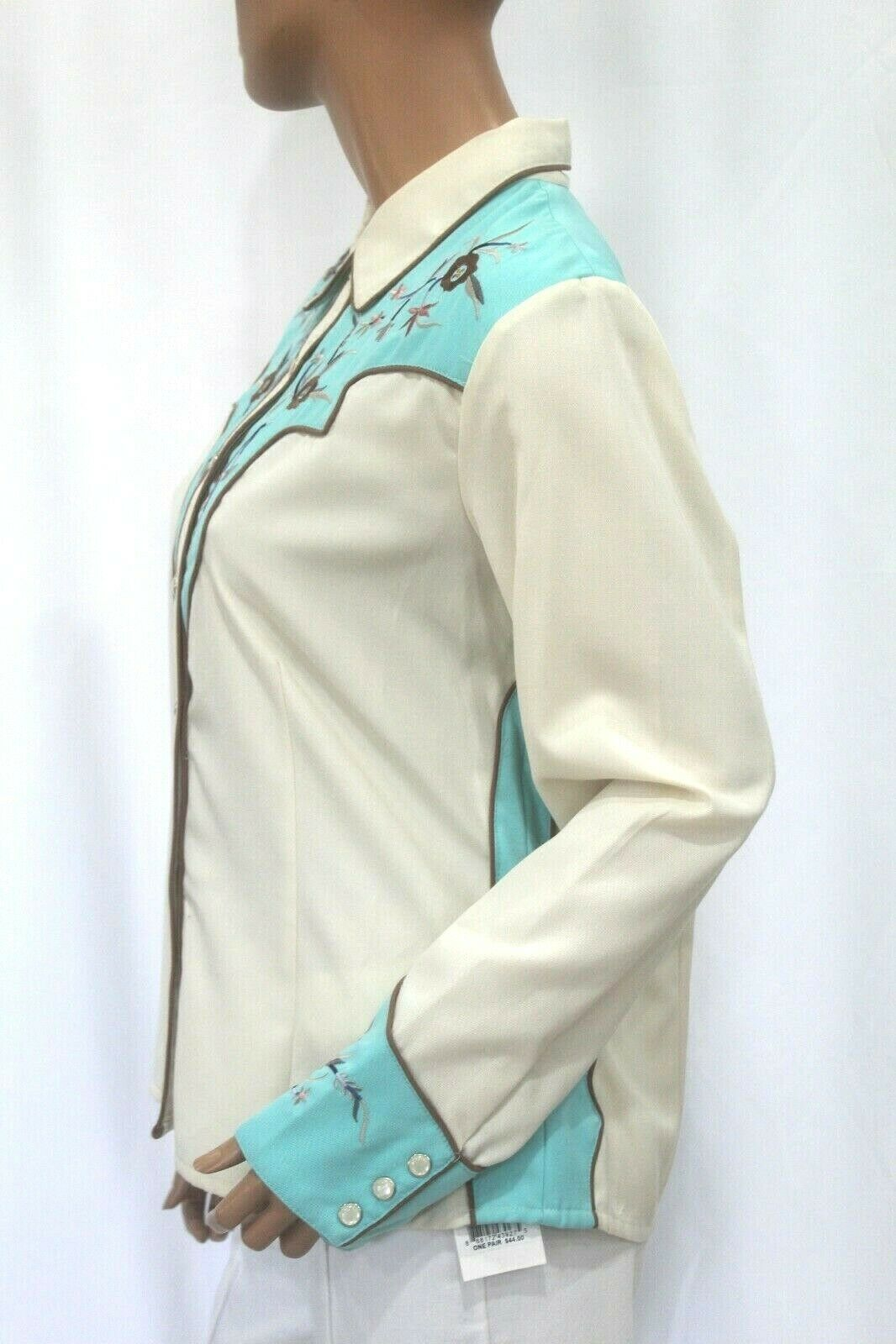 *VINTAGE* Scully~Women's Pearl Snap Western Shirt… - image 9