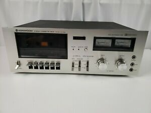 Vintage-Kenwood-KX-630-Stereo-Cassette-Deck-Tape-Player-Parts-Repair-AS-IS