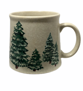 Papel-Snow-Capped-Christmas-Trees-Coffee-Cup-Mug-Hand-Painted-Woodsy