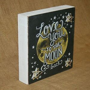 Love You To The Moon And Back Box Sign String Art Primitives by Kathy