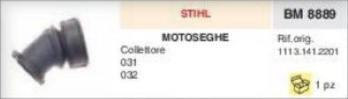 COLLETTORE ASPIRAZIONE FLANGIA TERMICA MOTOSEGA STIHL 031 032 ADATTABILE