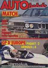AUTO HEBDO n°388 du 29 Septembre 1983 GP EUROPE 505 injection BMW 525