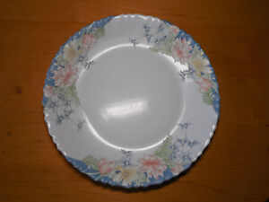 Image is loading Arcopal-France-FLORINE-Dinner-Plate-10-3-4- & Arcopal France FLORINE Dinner Plate 10 3/4 Blue Floral 1 ea | eBay