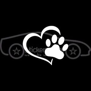 HEART-PAW-Sticker-Cat-Dog-Pet-Lover-Decal-Rescue-Adopt-Love-Family-Puppy-Print