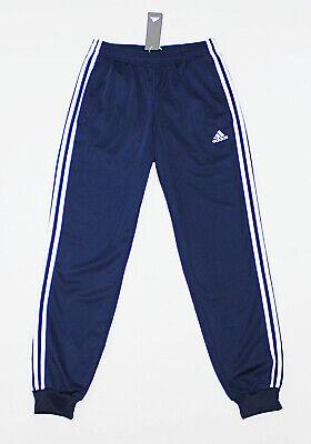 NWT ADIDAS 3-STRIPE Black-White Men/'s Track Pants Large pocket sweatpants jogger
