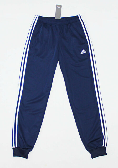 a81c9291 NWT ADIDAS Navy-White Cuffed Men's Track Pocket Pants Medium sweatpants  jogger