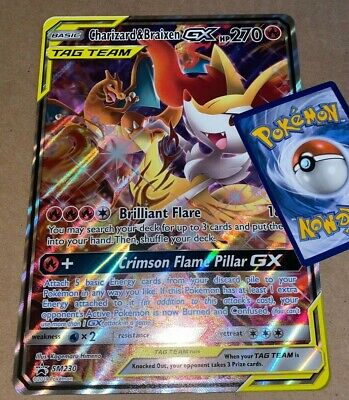 Charizard /& Braixen GX Oversized Promo Pokemon Jumbo Card NM SM230