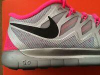 Girls Women Nike Free 5.0 Flash Gs Trainers Running Gym Pink 4.5 Uk Rrp £69.99