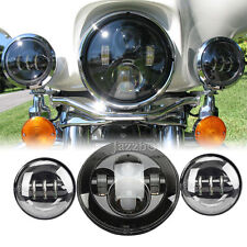 """7"""" Daymaker Headlight Auxiliary Light For Harley CVO Road King Classic Custom"""
