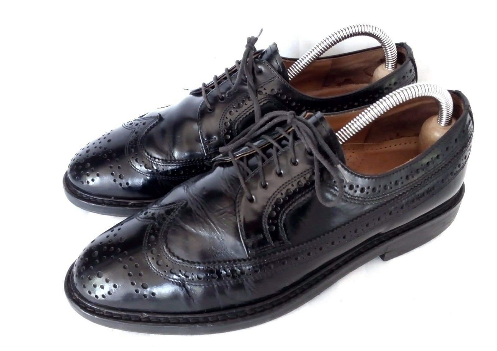 Lloyd New York 8 am Full Brogue Derby Business Herrenschuhe Leder Schwarz 8 / 42