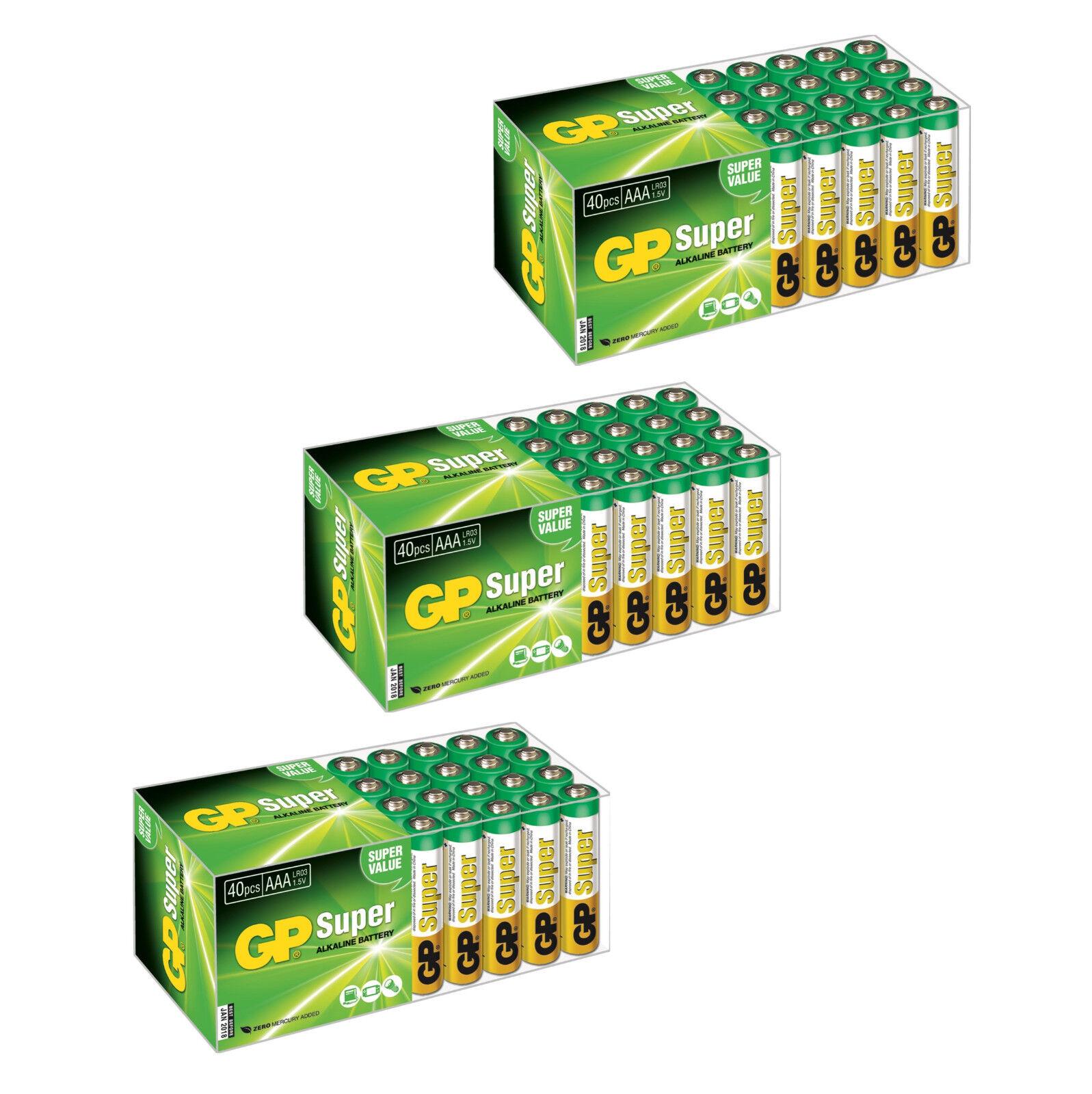 GP Super AAA Micro Batterie Alkaline Qualität Auswahl  | Sehr gute Farbe