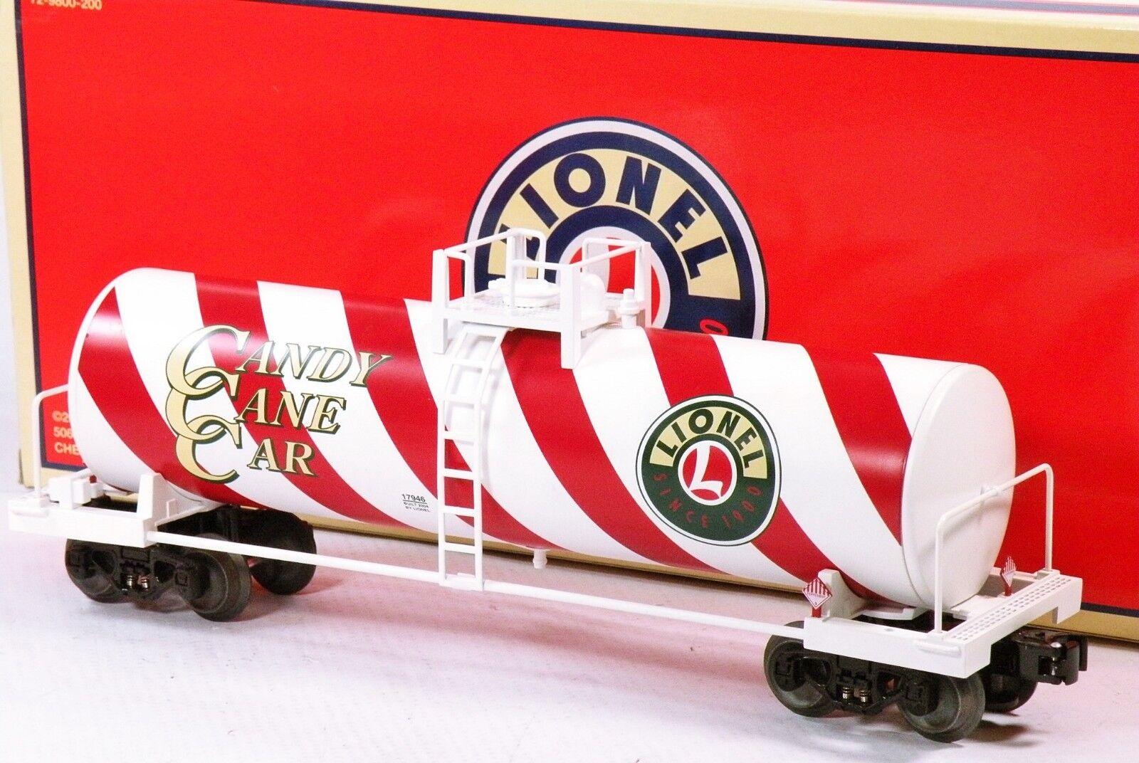 Lionel 6-17946 Candy Cane Unibody Std-O Tank Car 2004 C8