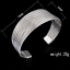 925-Silver-Plated-Men-Women-Bangle-Open-Cuff-Solid-Bracelet-Fashion-Jewelry-Gift thumbnail 10