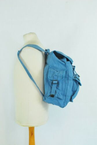 Large Strong Canvas Rucksack//Backpack Laptop Satchel Bag Blue//Yellow//Green//Black