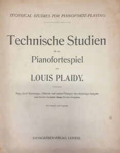 Musikinstrumente Plaidy Antiquarische Noten/songbooks Intelligent Technische Studien Für Das Pianofortespiel