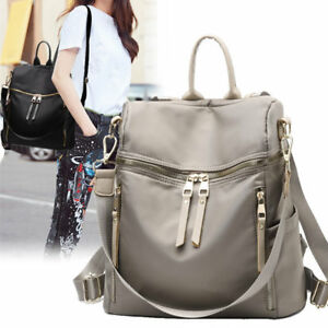 Convertible-Water-Resistant-Backpack-Rucksack-Daypack-Purse-Shoulder-Bag-Hobo