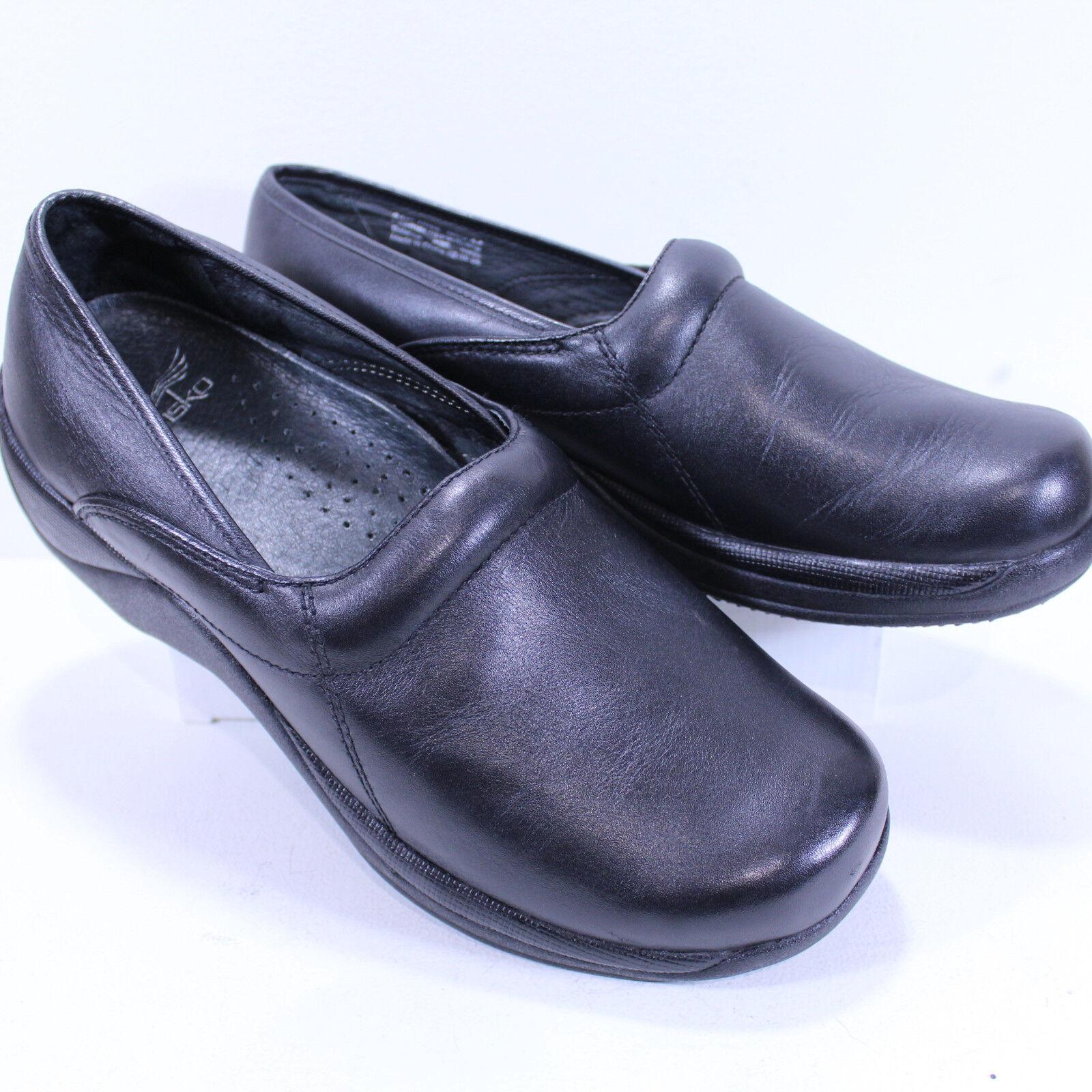 DANSKO XP Professional Clog Black Leather Slip Resistant Euro 44 10.5US