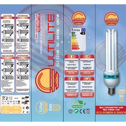 Lampada Cultilite G-Shock CFL 150W Grow 6400°K white crescita vegetativa g