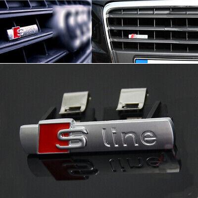 S Line Badge 2 Piece Original OEM Emblems Chrome Matt Badge Decal All Model