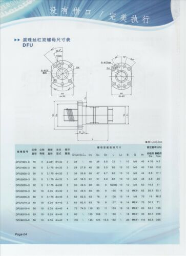 L1100mm Zero Backlash Ball screws 2005 1pcs SFU2005 single ballnut YB YB