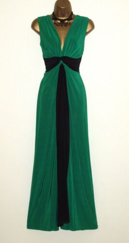 Taglia Party Grecian Maxi 10 26 Panel Jade Knot ball Dress Prom Black Evening Long wURxB6