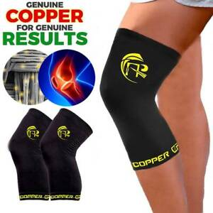 Knee-Support-Brace-Copper-Compression-Joint-Fit-Injury-Recovery-Sleeve-Arthritis
