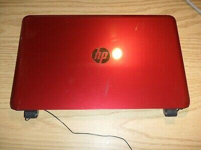 "HP 15-f272wm 15.6/"" Genuine LCD Back COVER w// Bezel Hinges Webcam Red EAU65003070"