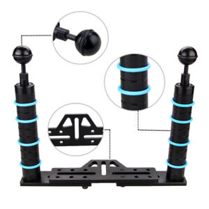 Underwater-Photography-Video-LED-Diving-Light-w-Bracket-Stand-Tray-Mount-Ball