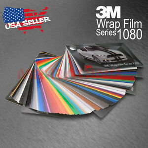Details about Newest 3M 1080 Sample Swatch Deck Book Wrap Vinyl Film Carbon  Fiber Matte Gloss