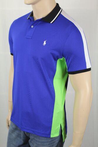 Polo Ralph Lauren Performance Blue Green White Pony Shirt NWT