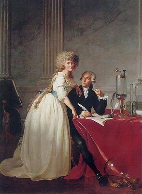 Portrait of Monsieur Lavoisier & His Wife Jacques-Louis David Canvas Print