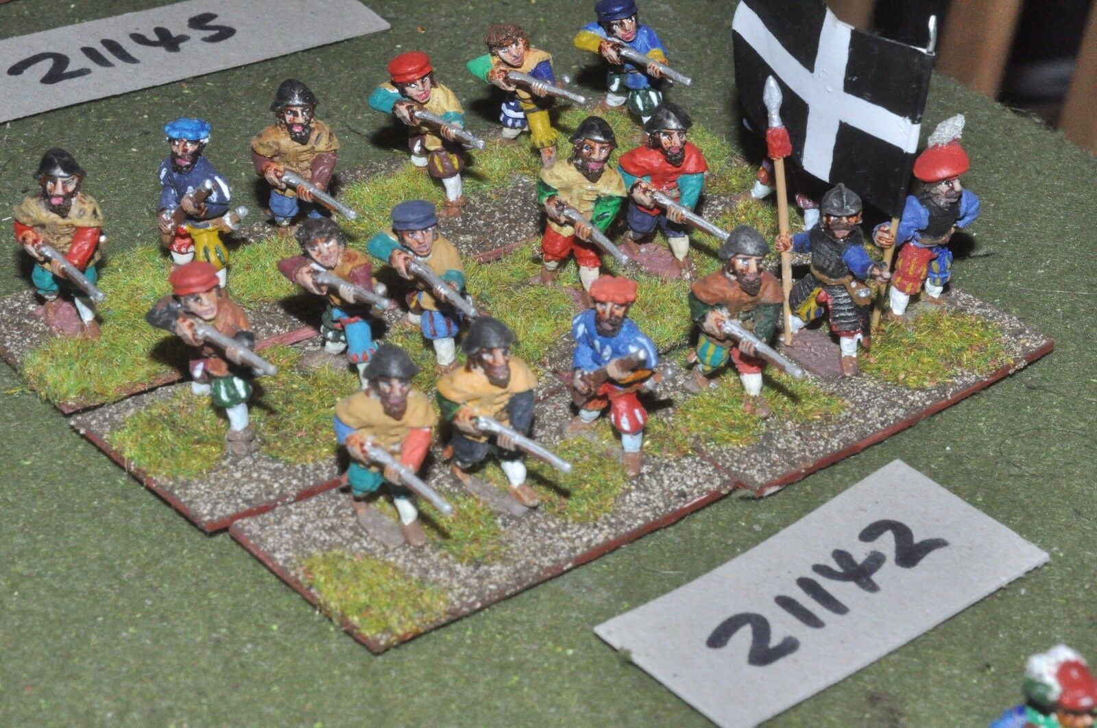 25mm renaissance   generic - infantry 18 figures - inf (21142)