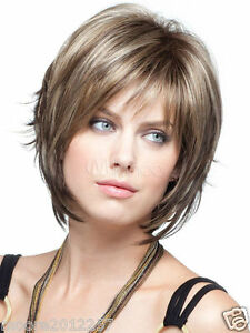 Fashion-wig-New-sexy-Women-039-s-short-Brown-Blonde-Natural-Hair-wigs