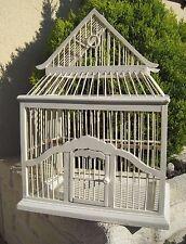 Ancienne Cage à Oiseaux Canari Bois Métal Artisanale début XX retro Canary Bird