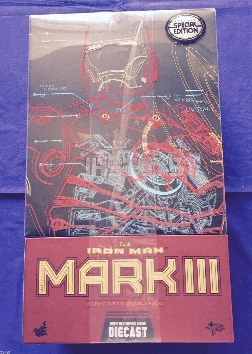 Hot Toys 1/6 Iron Man Mark 3 III Exclusive Special Edition MMS256D07 Diecast