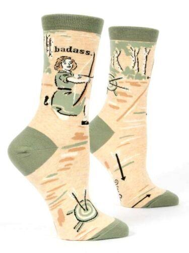 Bad*ss Novelty Gift 4-9 Blue Q Women/'s Crew Socks Archer
