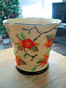 T-F-amp-S-Ltd-Phoenix-Flower-Pot-Vase-Thomas-Forester-amp-Sons-Orange-034-Blossom-034