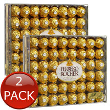 2 x FERRERO ROCHER CHOCOLATE HAZELNUT CHOCO FILLING WAFER GIFT 48 PIECES 600g