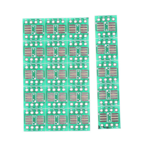 20PCS SOP8 SO8 SOIC8 TSSOP8 MSOP8 to DIP8 Adapter PCB DIY Conveter Board HI