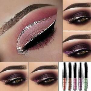 Bling-Glitter-Delineador-de-Ojos-Liquido-Larga-Duracion-Brillante-Maquillaje-Sombra-de-ojos