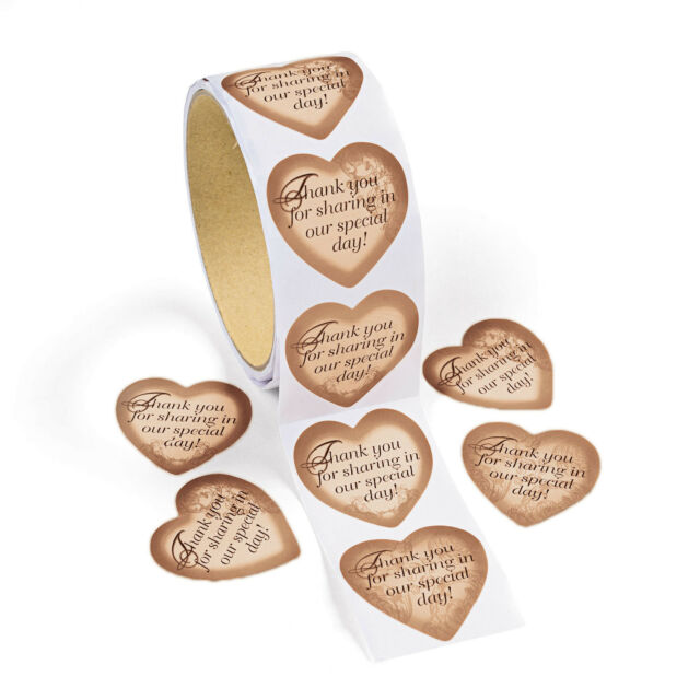 100 GOLD Wedding Stickers Party Favors invitations decorations 50th anniversary