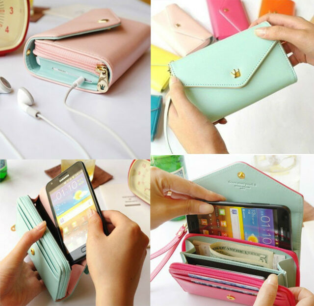 Multifunctional Envelope Wallet Purse Phone Case for Samsung Galaxy S4 i9500 New