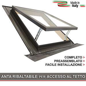 Lucernaio finestra per uscita sul tetto classic vasistas 55x78 infisso ce ebay - Finestra sul tetto ...